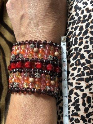 Armband paars-framboosrood
