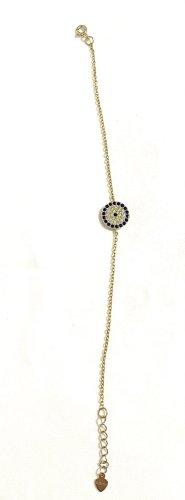 Vintage Sztywna bransoletka złoto-czarny