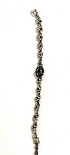 Vintage Silver Bracelet black-silver-colored