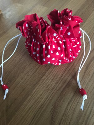 Mini sac blanc-rouge foncé