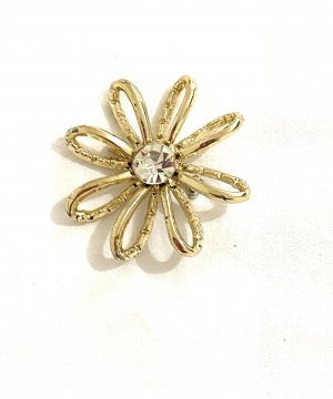 Vintage Brooch gold-colored-white