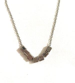 Vintage Necklace silver-colored-light grey