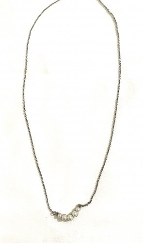 Vintage Necklace silver-colored-white