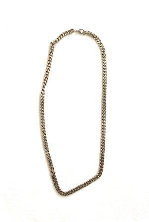 Vintage Srebrny łańcuch srebrny-złoto