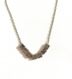 Vintage Naszyjnik srebrny-jasnoszary
