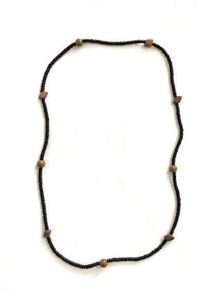 Vintage Collar de perlas negro-marrón grisáceo