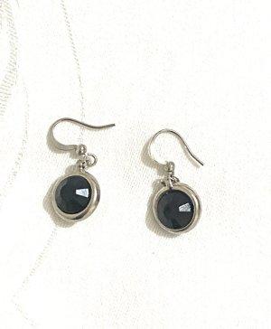 Vintage Orecchino a pendente nero-argento