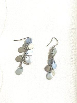 Vintage Orecchino a pendente argento-grigio ardesia