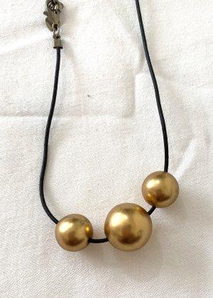 Vintage Naszyjnik czarny-złoto