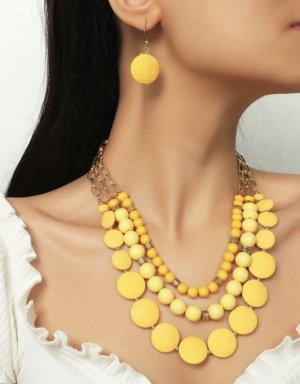 100% Fashion Conjunto de Joyas amarillo