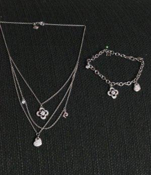Schmuck-Set Pierre Cardin (925 Sterling Silber) - Kette und Armband -2-teilig