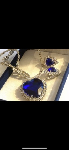 Collana blu-argento