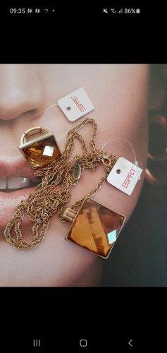 Esprit Zdobiony pierścionek w kolorze różowego złota-jasnobrązowy