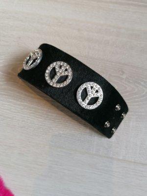 schmuck-art Bracelet en cuir noir