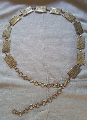 Cintura con catena bronzo-ocra Metallo