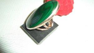 SCHMUCKJAGD RING GR. 18 (55) AUS 925 Rose  gold  MIT MALACHIT - SOGNI D'ORO