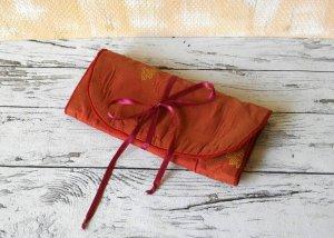 Bolso de tela rojo claro tejido mezclado