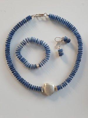 Silver Chain silver-colored-blue