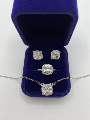 925er Silber Parure bijoux argenté