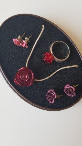 Schmuckset 925 Silber von Esprit (Kette und Ring) plus 2 Paar Ohrringe Rosen