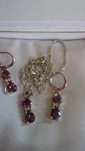 Schmuck Collier Necklace silver-colored-lilac