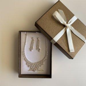 Schmuckset aus Strass Halskette + Ohrringe von Senso Di Donna NEU