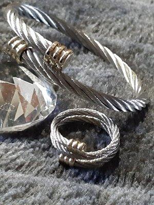 Schmuckset bicolor stainless steel