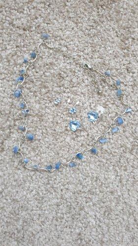 Unbekannter designer Zilveren ketting neon blauw