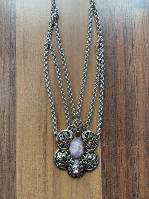 Collier argento-malva
