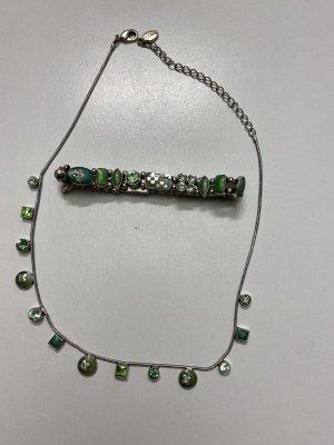 Danish Design Collier vert clair-turquoise