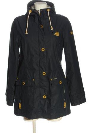 Schmuddelwedda Impermeabile nero-giallo pallido stile casual