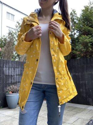 Schmuddelwedda Heavy Raincoat yellow-white
