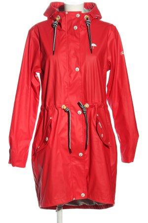 Schmuddelwedda Zware regenjas rood casual uitstraling