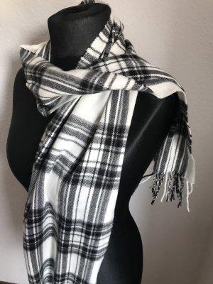 Esmara Bufanda de cachemir blanco-negro