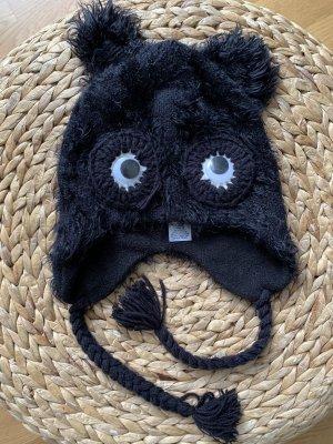 Rusty Fur Hat black-white nylon