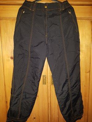 Pantalón de esquí negro-naranja poliamida