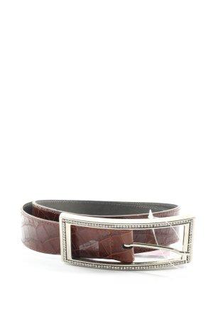 Schneider & Friends Belt Buckle brown animal pattern casual look