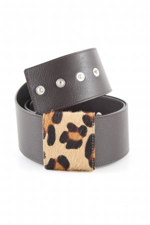 Schneider & Friends Waist Belt black-brown animal pattern party style
