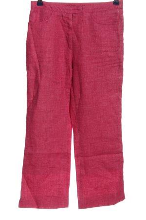 Schneiders Salzburg Linnen broek roze gestippeld casual uitstraling