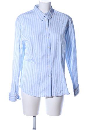 Schnitzler Langarmhemd blau-weiß Streifenmuster Business-Look