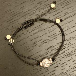 Schnür-Armband mit Strasskugel