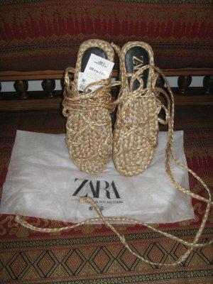 Zara Espadrille sandalen beige