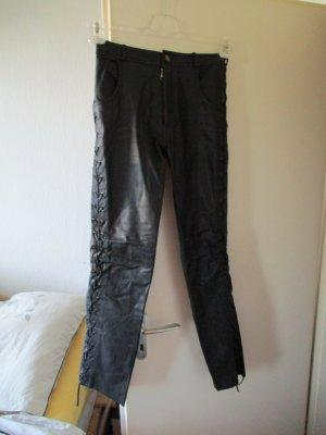 Linus Skórzane spodnie czarny