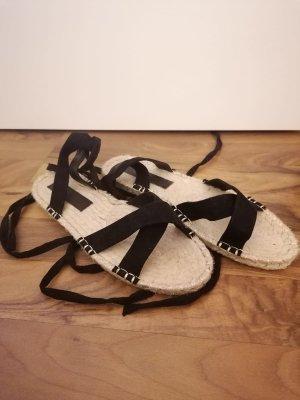 Sandalo romano nero-beige