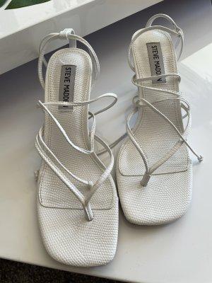 Schnür-Sandaletten STEVE MADDEN weiß in Gr. 37