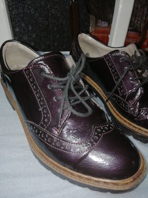 9th Avenue Wingtip Shoes blackberry-red