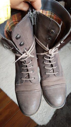 Görtz Shoes Stivaletto stringato grigio-marrone-grigio