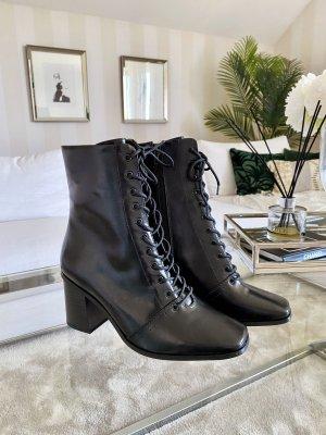 Schnür-Stiefeletten Schwarz Boots