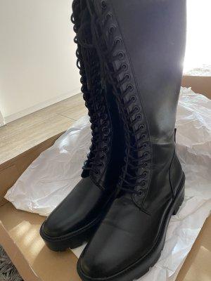 Schnür Stiefelt schwarz 39 Damen noch nie getragen nagelneu