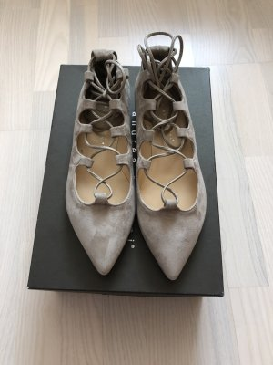 Andrea Puccini Ballerinas with Toecap silver-colored leather